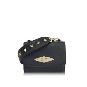 RED Valentino Black Leather Shoulder Bag w/Stars at FORZIERI