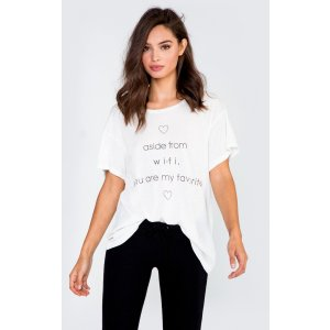Do You have WIFI? Manchester Tee | Wildfox