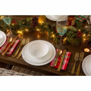 Corelle Livingware Durable Glass Dinnerware Winter Frost White - 16 CT - Walmart.com