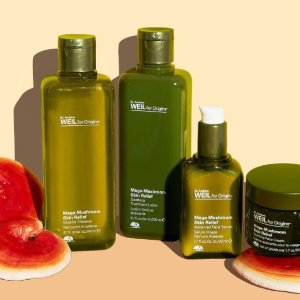 20% off ANY purchase+ super deluxe Mega-Bright cleanser on $45 Dr.Andrew Weil for Origins Mega-Mushroom Collection purchase