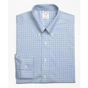 Non-Iron Regent Fit Overcheck Tattersall Dress Shirt
