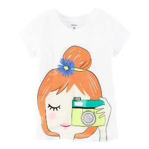 Kid Girl Camera Girl Graphic Tee | Carters.com