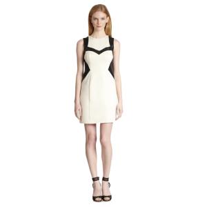 Nanette Lepore Rio Grande Leather Trim Sheath Dress | Bluefly.Com