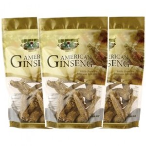 American Ginseng Special Jumbo Root 8oz bag x3