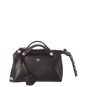 FENDI Mini By the Way Embellished Leather Boston Bag