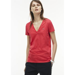 Women's Jersey Cotton V-Neck T-Shirt | LACOSTE