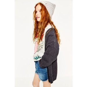 LONG STRUCTURED WEAVE CARDIGAN - SWEATERS & CARDIGANS-GIRL | 4-14 years-KIDS-SALE | ZARA United States