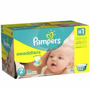 $18.36 会员价Pampers Swaddlers  帮宝适2号婴儿纸尿裤132片