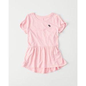girls Cold-Shoulder Shine Peplum Tee | girls 40-60% off select styles | Abercrombie.com
