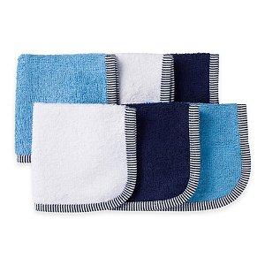 Gerber® 6-Pack Woven Washcloths in Blue - Bed Bath & Beyond
