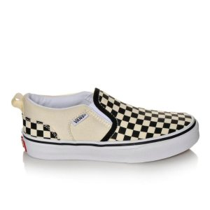 Boys' Vans Asher 10.5-7 Black/Natural | Shoe Carnival