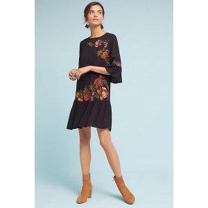 Leona Bell-Sleeve Dress