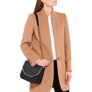 Black Studded Falabella Box Shoulder Bag