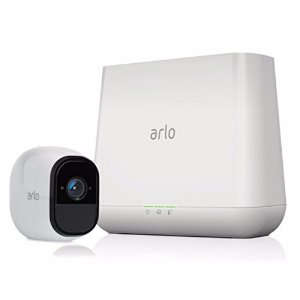 Arlo Pro Security System with Siren – 1 Rechargeable Wire-Free HD Cameras with Audio, Indoor/Outdoor, Night Vision