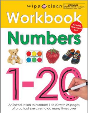 $2.67Wipe Clean Workbook 可擦拭数字练习训练本