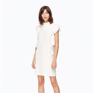 satin crepe flutter sleeve dress | Kate Spade New York