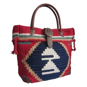 Amerileather Navy Blue & Red Borka Tote | zulily