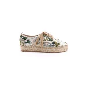 J/Slides Rally Lace Up Floral Espadrille Sneakers   South Moon Under
