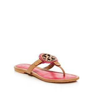Tory Burch Miller Fringe Thong Sandals | Bloomingdale's