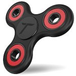 Trianium Fidget Spinner [Tripple Ranger] Prime Phone Stress Reducer Toy for Kid Student Adult [Premium Bearing] [Easy Flick+Spin] Single/both Hands Finger Figit Toys For Anxiety,Autism,Boredom