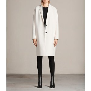 ALLSAINTS US: Womens Anya Coat (PORCELAIN WHITE)