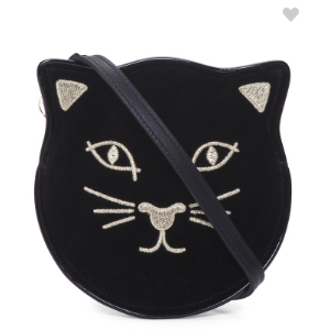 Made In Italy Incy Feline Velvet Small Crossbody