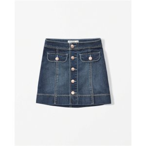 girls denim a-line skirt | girls clearance | Abercrombie.com