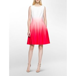 ombre fit + flare dress | Calvin Klein