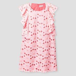 Girls' Floral Eyelet Shift Dress Cat & Jack™ - Coral : Target