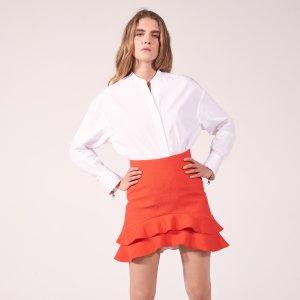 Skirt With Two Frills At The Hem - Skirts - Sandro-paris.com