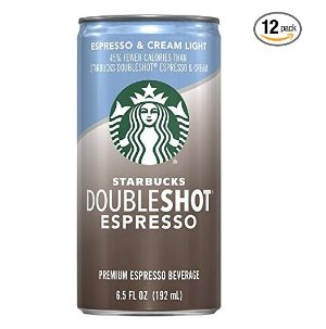 $14.19 Starbucks Doubleshot, Espresso + Cream Light, 6.5 Ounce, (Pack of 12)