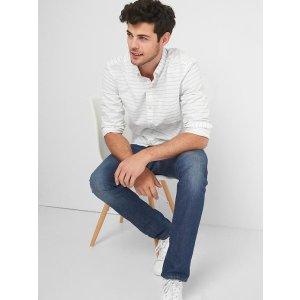 Oxford print standard fit shirt