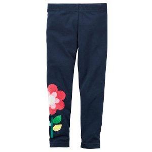Kid Girl Flower Leggings | Carters.com