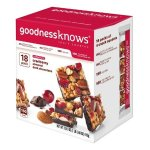 goodnessknows Cranberry, Almond and Dark Chocolate Snack Squares 18-Count Box