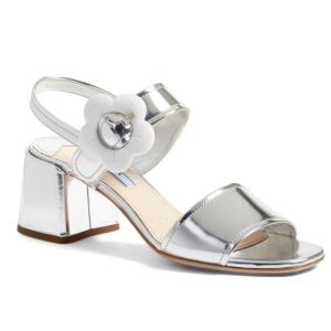 Prada Flower Buckle Sandal (Women)