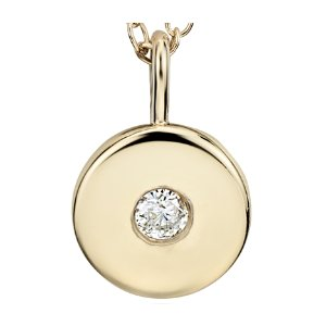 Mini Diamond Birthstone Charm Pendant in 14k Yellow Gold - April (2mm) | Blue Nile