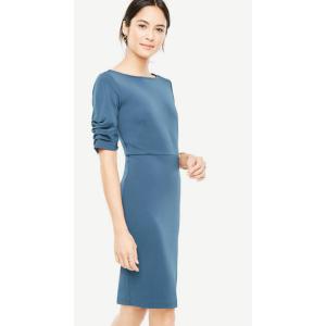 Ruched Sleeve Sheath Dress | Ann Taylor