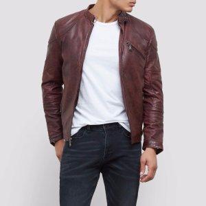 Leather Moto Jacket | Kenneth Cole