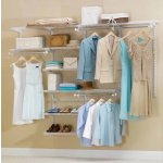 Rubbermaid 3H89 Configurations 4-to-8-Foot Deluxe Custom Closet Organizer System Kit, Titanium