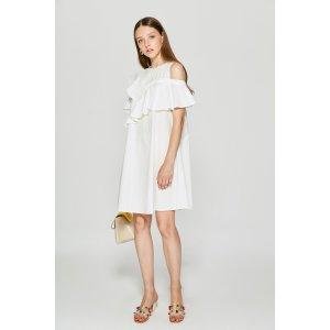 Ruffle Asymmetrical Dress DR6538 – FEW MODA