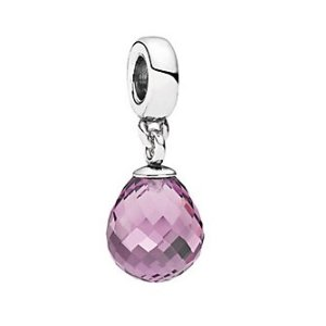 PANDORA Faceted Beauty Silver Murano Glass Charm