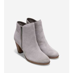 Hayes Booties 75mm in Ironstone Suede | Cole Haan