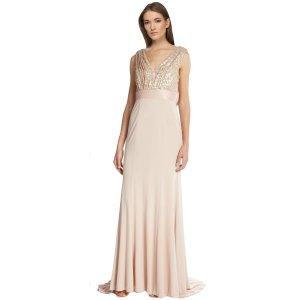 Vera Wang Sequin Bodice Empire Evening Gown | Bluefly.Com