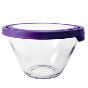 Anchor Hocking 4 qt Splashproof Mixing Bowl w/ TrueSeal Lid - Spring Cleaning - Sale