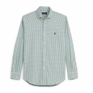 Checked Cotton Poplin Shirt - Standard Fit � Casual Shirts - RalphLauren.com