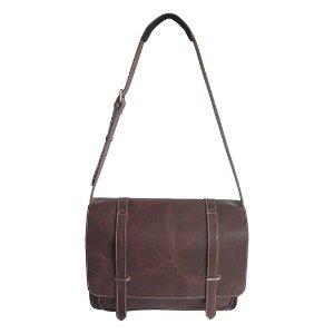 Amerileather Dark Brown Jordan Leather Laptop Bag | zulily