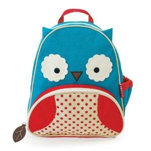 Skip Hop Zoo Little Kid Blue Owl Backpack with Side Mesh Pocket - Toys
