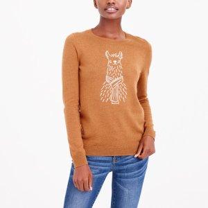 Alpaca intarsia sweater