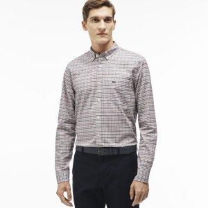 Men's Checked Oxford Woven Shirt | LACOSTE