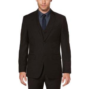 Regular Fit Sharkskin Solid Suit Jacket